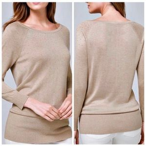 WHBM | Women's Shimmery Ribbed Sweater Size XS